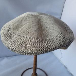 Kangol Tropic 504 Ventair Beige Newsboy Cap Hat